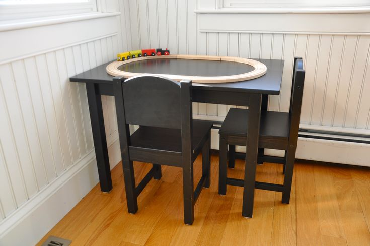 Our new mini kitchen table ikea table kid table and for Play kitchen table