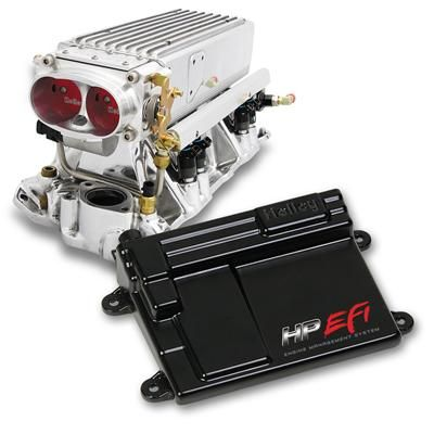 Stealth Ram MPFI Fuel Injection System V8, Small Block Chevy, Early to Late Heads, Polished, Range Up To 500 HP