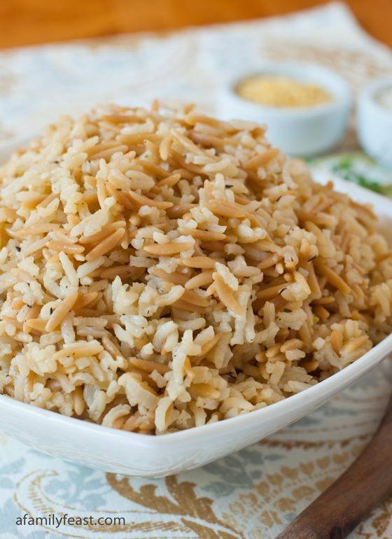 Rice Pilaf - So much better than any boxed rice pilaf mix and chances are, you have all the ingredients already in your kitchen!
