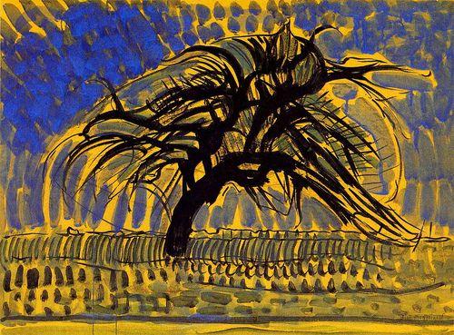 The Blue Tree, Piet Mondrian 1908