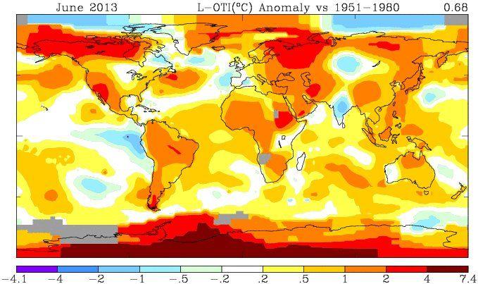 Snow and Arctic sea ice extent plummet suddenly as globe bakes