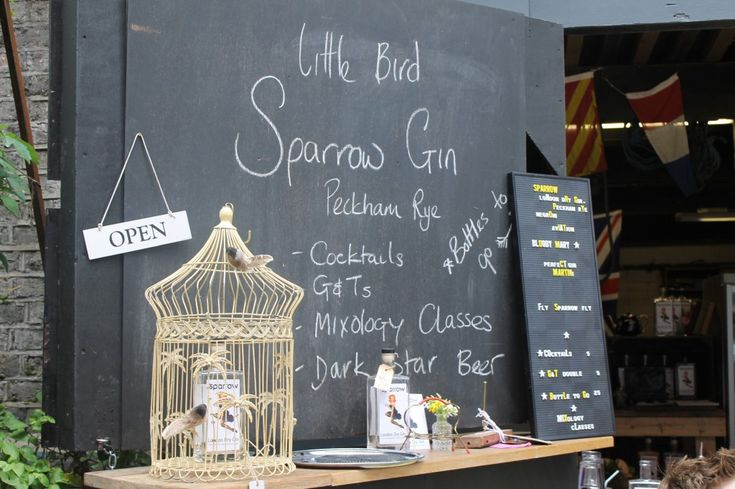 Sparrow Gin cocktails, Maltby Street