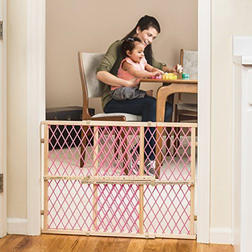 Safety Gate Baby Child Pet Toddler Dog Stairway Position Lock Wood Gate Pink NEW #SafetyGateBaby