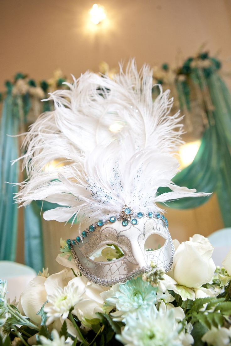 Tiffany Blue Quincenera Masquerade @ Demers Banquet Hall #wedding ceremony, #wedding #Mardi Gras