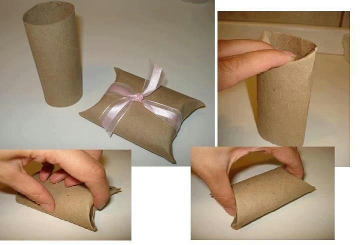 Idea caja regalo con tubo de papel higienico