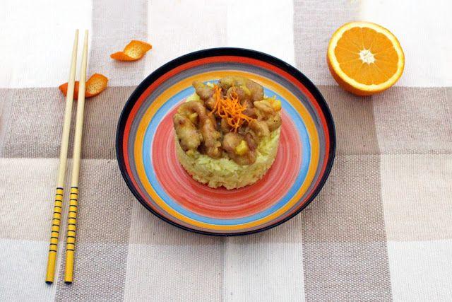 Δείτε τη συνταγή για το πιο νόστιμο ρύζι μπασμάτι με κοτόπουλο και μαρμελάδα πορτοκάλι.