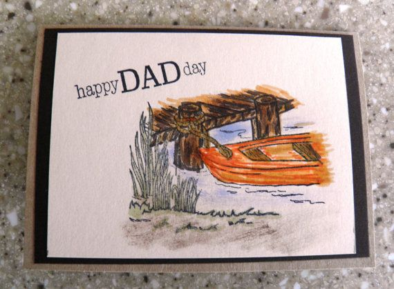 Happy Father's Day Card with boat by TwoYellowDaisies on Etsy, $3.00