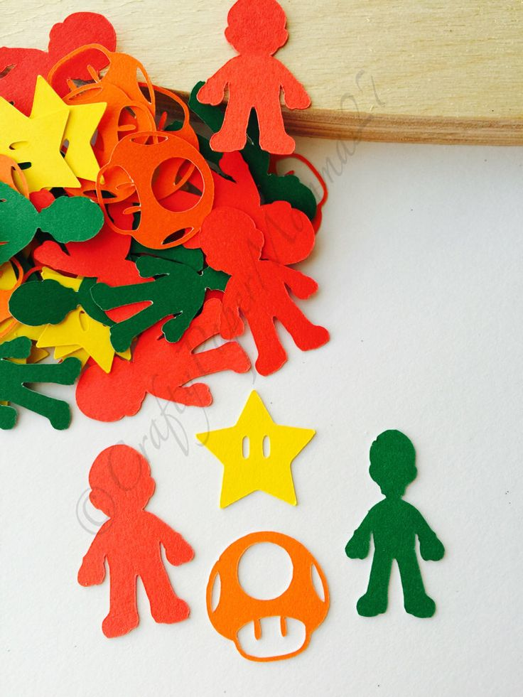 654a708916b Super Mario Bros Party Confetti by Craftypapermama27 on Etsy  https   www.etsy