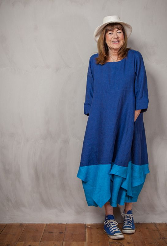For a lovely comfortable day in town. Summer Handkerchief Dress in linen £285.
