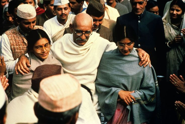 Ben Kingsley, Neena Gupta, and Supriya Pathak in Gandhi (1982)