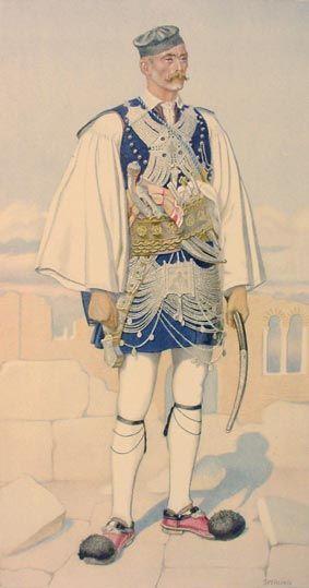 TRAVEL'IN GREECE I Man's Costume, #Peloponnese, #Mesolonghi