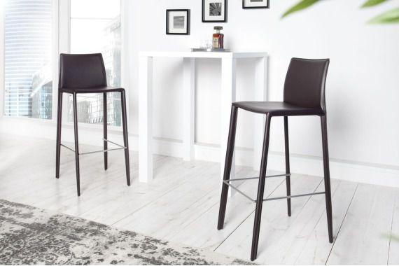 Krzesło barowe / hoker Verona - ciemnobrązowe
