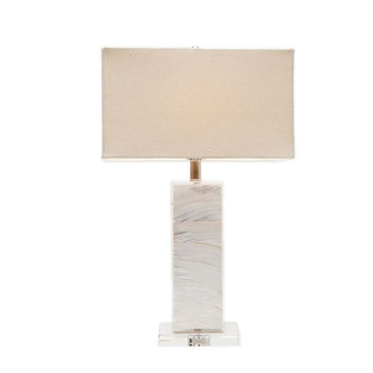 The elegant simple style of this neutral table lamp brings the ultimate yin-and-yang feeling to your space.