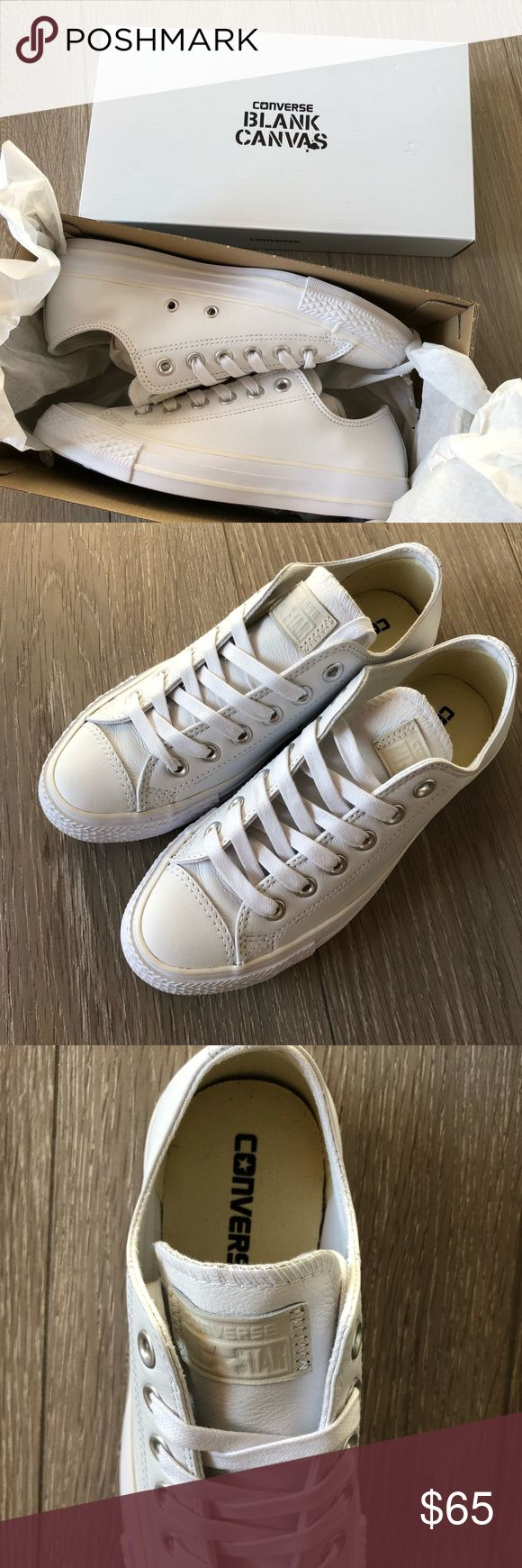 NEW! Converse Chuck Taylor Leather Low Top Shoe NEW! Converse Custom Chuck Taylor Premium Leather Low Top Shoe.  Never worn still in the box. Converse Shoes Athletic Shoes