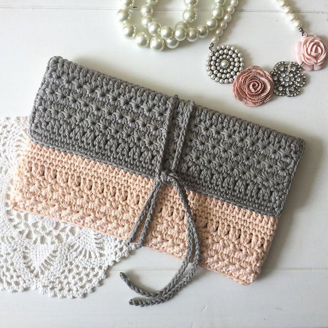 Crochet Crossbody Bag Pattern : Best 20+ Crochet clutch ideas on Pinterest