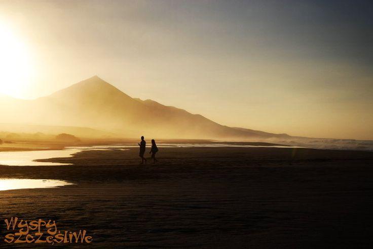 Zachód słońca na Playa Cofete, Fuerteventura #wyspy Kanaryjskie