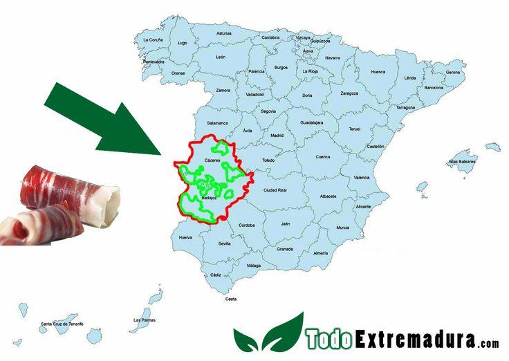Los mejores Jamones están en Extremadura http://www.todoextremadura.com/jamon-iberico/