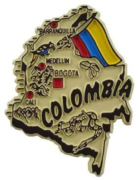 MGI Companies, Inc. - Colombia - International Country Shaped Map Magnets, $2.89 (http://www.internationalgiftitems.com/colombia-magnetic-map)