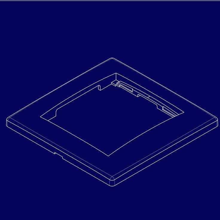 Blueprint of a wall socket