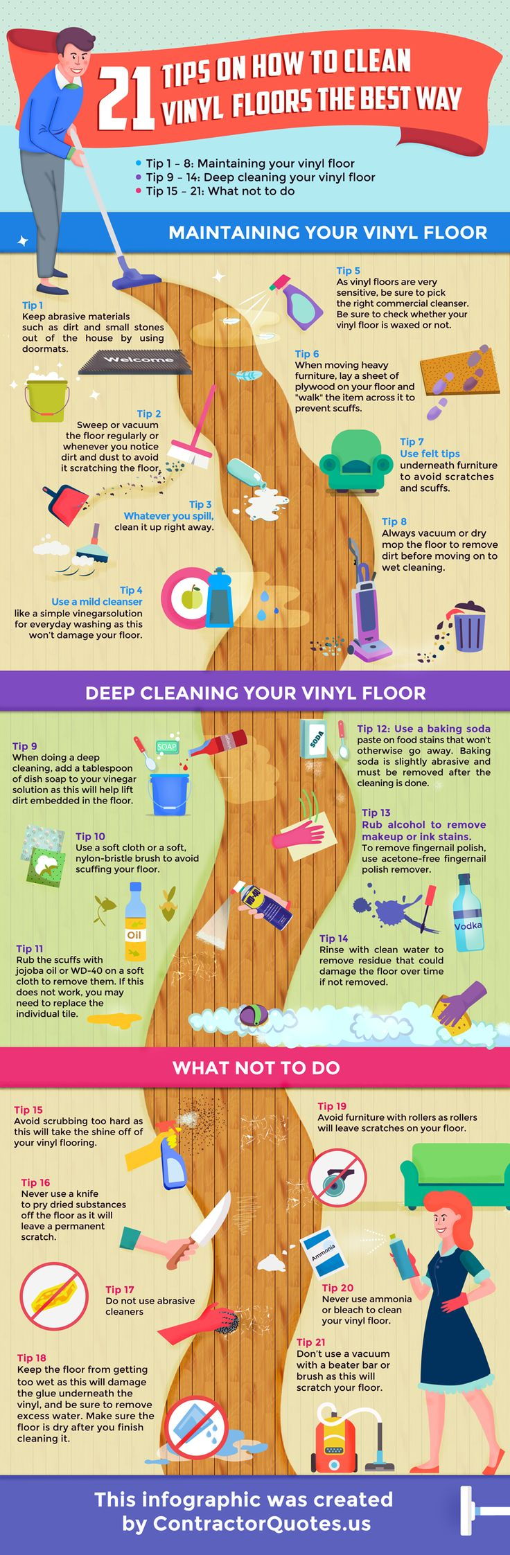 how to clean vinyl plank floors the best way - infographic.png