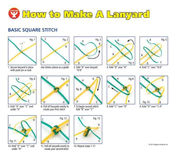 Image result for plastic lanyard designs instructions