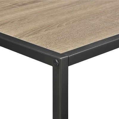 Emmett 42 TV Stand/Coffee Table with Metal Frame - Sonoma Oak/Gunmetal Gray - Ameriwood Home, Brown