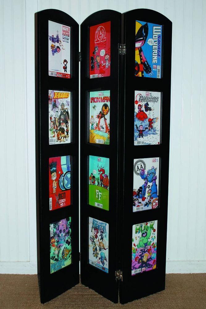 Nerd room. tri-fold-museum-edition-comic-book-display-frame