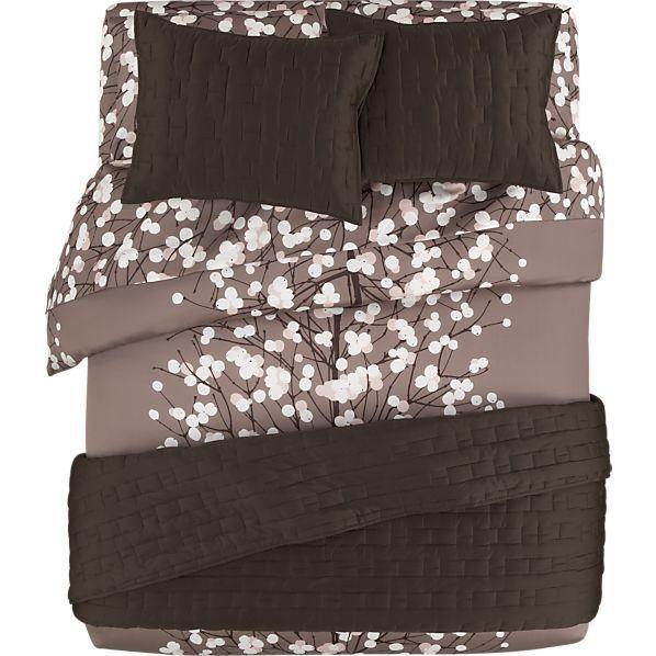 Marimekko Lumimarja Taupe Bed Linens In All Decorative
