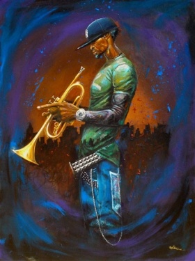 """""""Blue Notes"""" by Frank Morrison"""