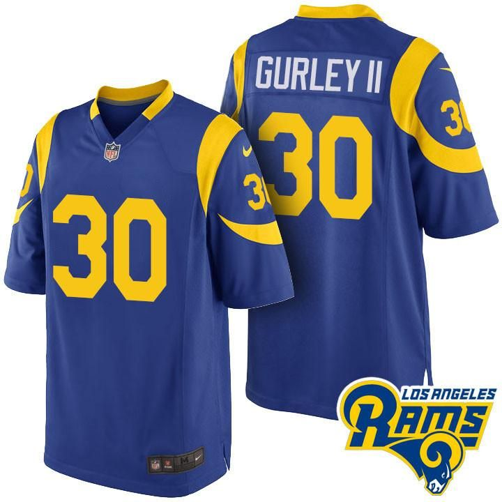 32b2190e9 ... promo code for elite royal blue jersey nike nfl los angeles rams  alternate 30 todd gurley