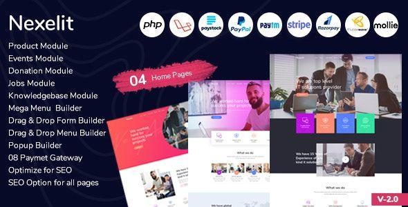 Nexelit V2 0 Multipurpose Website Business Management System Cms Nulled Online Information 24 Hours Business Management Business Website Donation Website