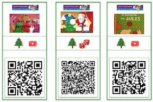 QR kaarten Kerst onderbouw #gratisdownload