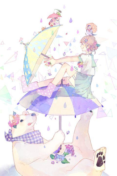 [pixiv] 【雨の日が楽しくなる!】傘(かさ)特集 - pixivスポットライト
