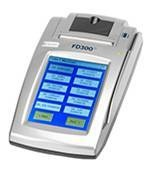First Data FD-300Ti Credit Card Terminal.  Perfect for operations that need to keep  track of sales for separate businesses (as  many as 99) that are housed at the same  location. Each business owner receives  an individualized statement. Terminal and  printer in one.