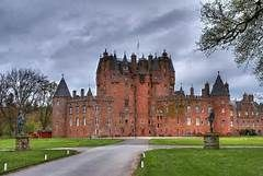 Glamis Castle, near Dundee, Scotland.  14th century established by the Lyon family origin 11th century France.  Sir John Lyon married the daughter of King Robert II.  Family created Barons of Strathmore in 15th century.  Childhood home of Elizabeth Bowes-Lyon, the Queen  Mother 1900-2002.