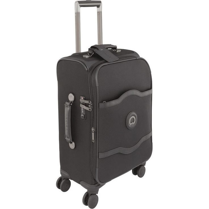 Delsey Chatelet 4 Wheel Carry On Suitcase in Black | Buy Carry On Suitcases