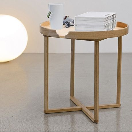 Round Side Table (oak)by Wireworks.