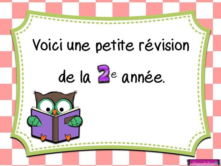 révision français 2e année tni tbi powerpoint