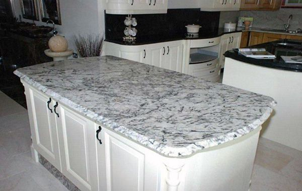 Best White Delicatus Ice Countertop On Island With Black 400 x 300