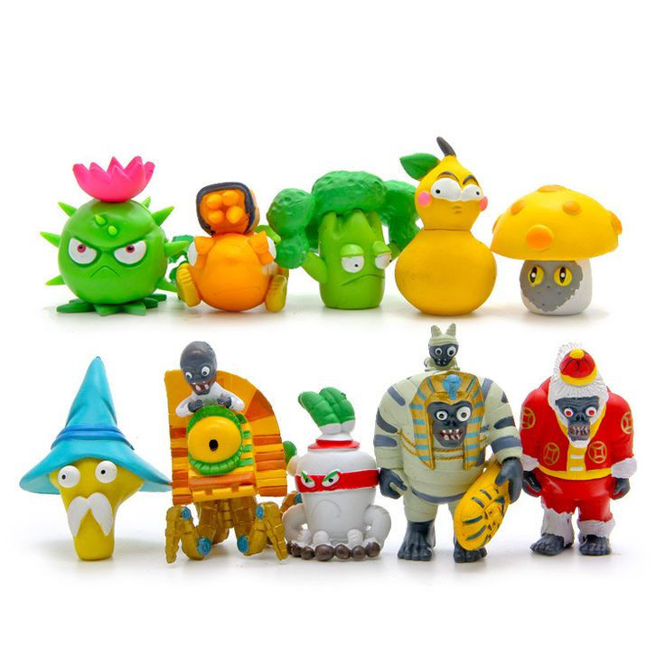 10pcs/set Plants vs Zombies  PVC Toy Figure Plants Zombies Action Toy Figures #Affiliate