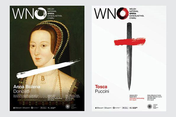 It's Nice That : Hat Trick produce a superb new identity for the Welsh National Opera