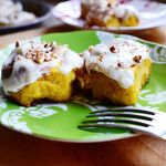 OMG...pumpkin cinnamon rolls?!  Thanksgiving morning or for the houseguests from out of town that weekend - must try!