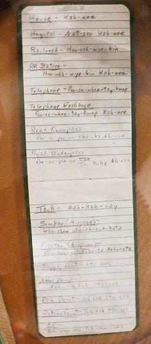 Code talker - Hugh F. Foster Jr.'s Comanche codebook -                      ..en.wikipedia.org