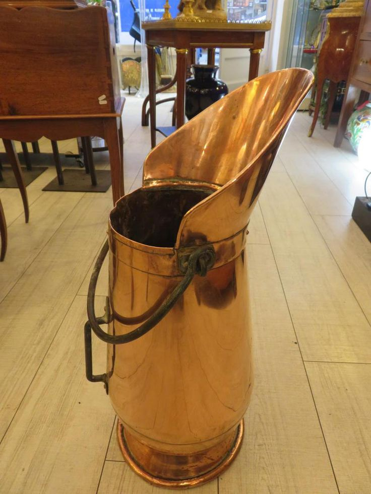 Porte parapluie en cuivre ,avec anse et poignée Fin XIX ème