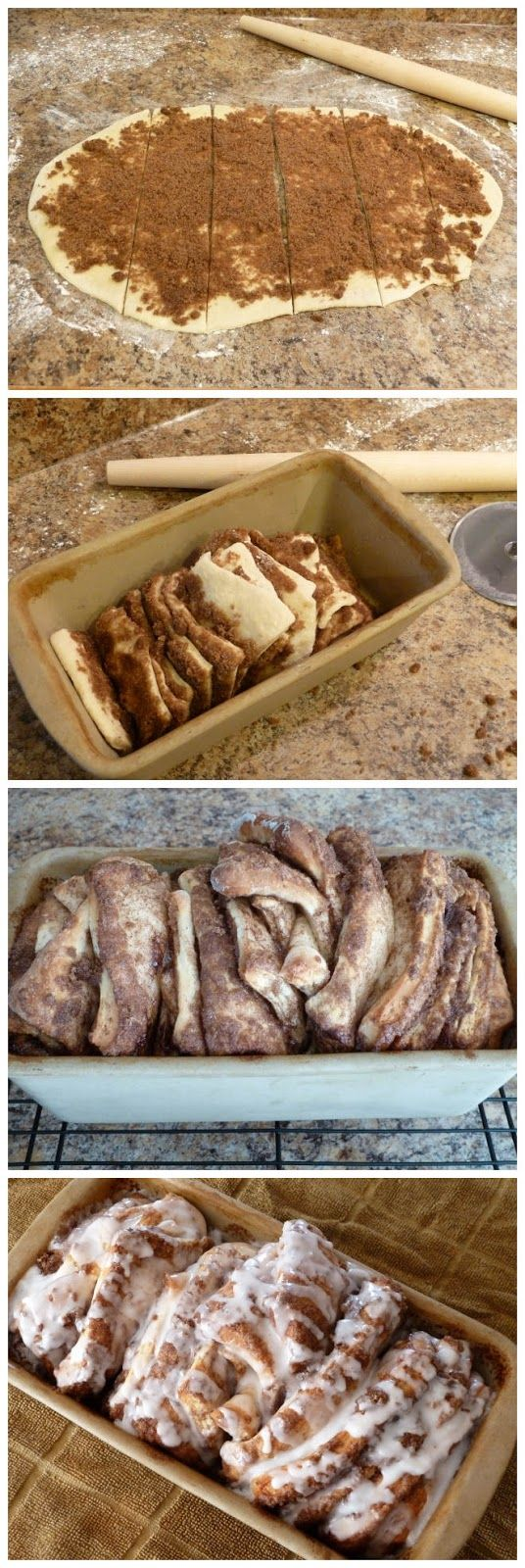 Cinnamon Pull-Apart Bread - use homemade recipe and bake like this for something different.