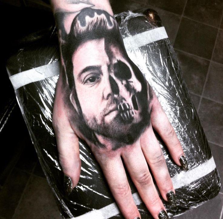 Deftones Chino Moreno + self titled skull tattoo