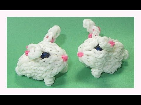 Rainbow Loom 3D BUNNY. Designed and loomed by DIY Mommy. Click photo for YouTube tutorial. 05/16/14.