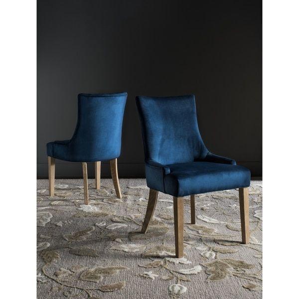 Safavieh En Vogue Dining Lester Navy Side Chairs (Set of 2)