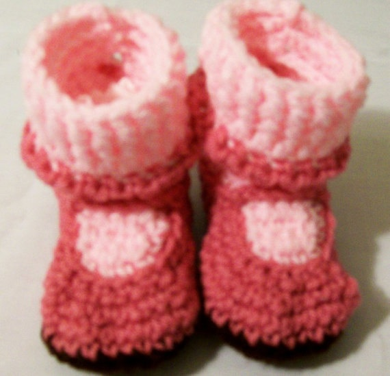 Baby Girl Booties Mary Jane shoes crochet Rose by CrochetbyBarb70, $14.00: Babies, Mary Jane Shoes, Booties Mary, Baby Girls, Shoes Crochet, Crochet Roses
