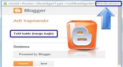 Blogger Attribution Atfı Aktifleştirme